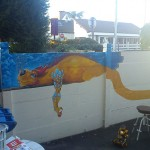 fresque enfant dragon