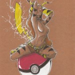 Artbook femmes animales sexy Thib illustrateur pikachu