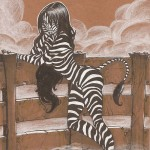 Artbook femmes animales sexy Thib illustrateur zebre