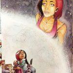 """A3 = 400€ illustration pour le livre """"Rebirth"""" de Johanna Zaïre"""
