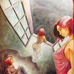 """A3 = 500€ illustration pour le livre """"Rebirth"""" de Johanna Zaïre"""