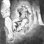 Le Héros se faisant torturer
