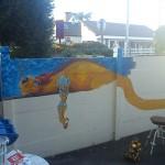 fresque enfant dragon