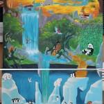 Fresque Acrylique et posca