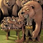 Vendeur de peaux de grizzlis