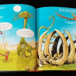Piti-Crok et ses amis devant les dinosaures
