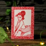 "Sketch Card ""rouge"""