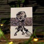 "Sketch Card 3D ""zombie"""