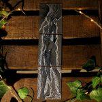 Triptyque sketch cards femme arbre